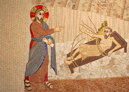 paralitico Jesús cura al paralitico