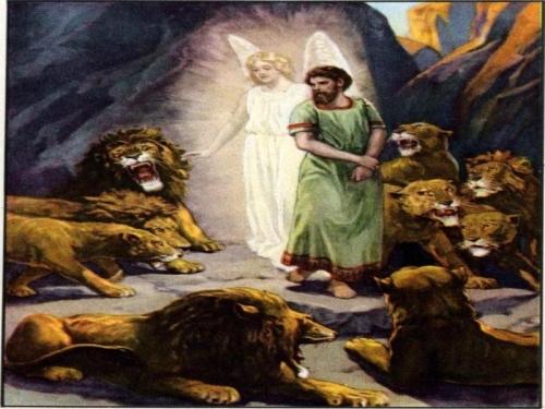Daniel en el foso con los leones Imágenes de Daniel en el Foso de los Leones