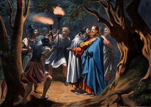 Resultado de imagen de imagenes de judas dando el beso a jesus y entregandolo