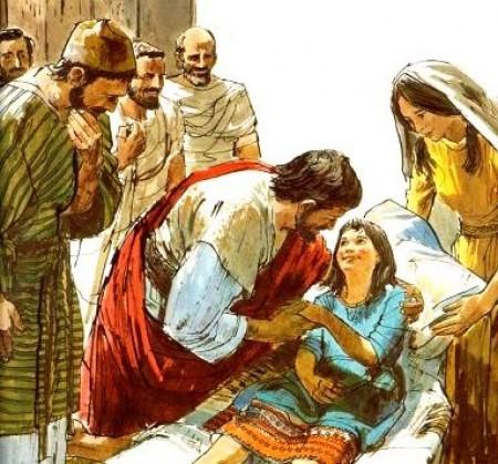 Jesus resucita a una niña