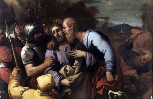 Resultado de imagen de imagenes de judas entregando a jesus