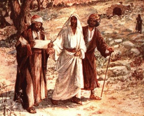 twodisciplesmeetjesusontheroadtoemmaus 700px Imagenes de Jesús en el Camino de Emaus
