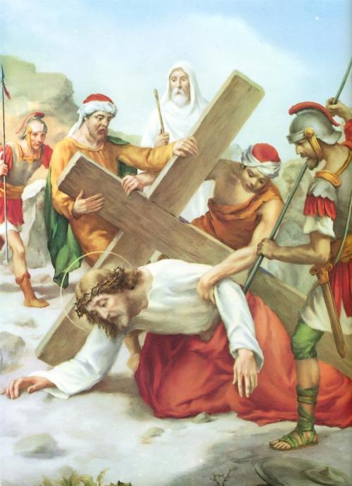 Novena Estacion Jesus Cae por Tercera Vez