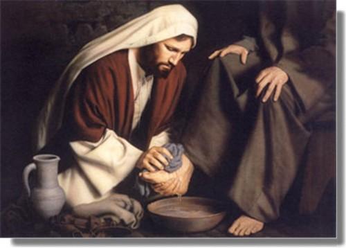 JESUS LAVA LOS PIES A SUS DISCIPULOS e1364445702178 Imágenes de Jesús lavando los pies de sus discípulos