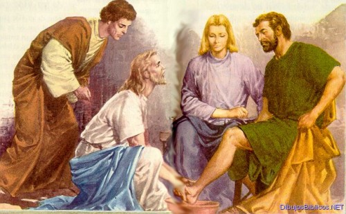 Lavamiento e1364445658582 Imágenes de Jesús lavando los pies de sus discípulos