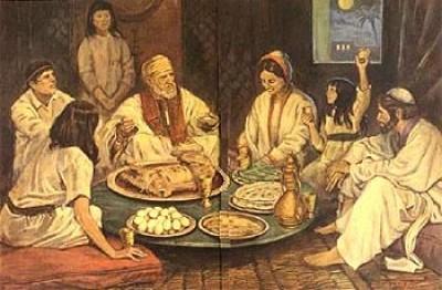 cena pascua judia e1364059620103 El Origen de la Pascua Judía