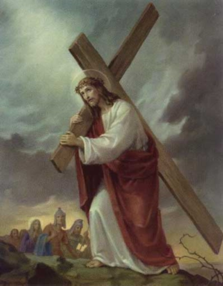 jesus415 Segunda Estación: Jesús carga la Cruz