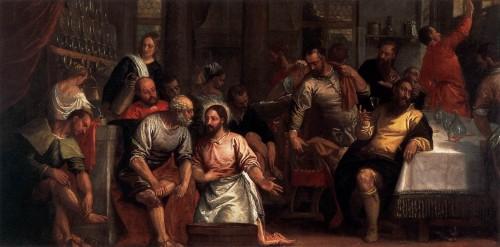 la pies 4 e1364445634680 Imágenes de Jesús lavando los pies de sus discípulos