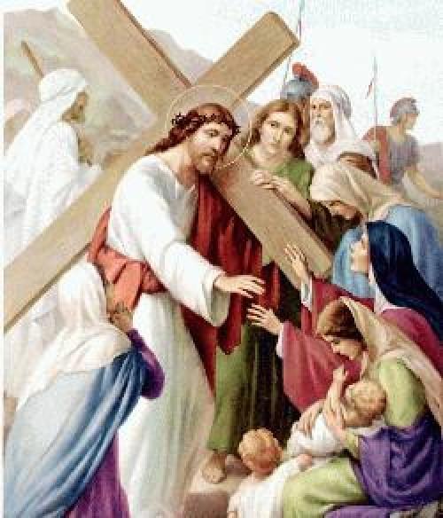 st08 e1364254208255 Octava Estación: Jesús consuela a las hijas de Jerusalén