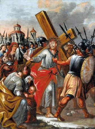 stazione8 Octava Estación: Jesús consuela a las hijas de Jerusalén