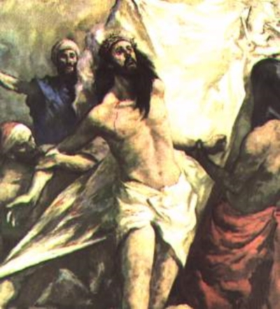stripped Décima Estación: Jesús es despojado de sus vestiduras