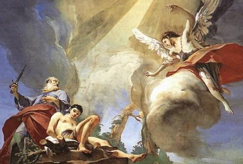 Tiepolo Abraham and Isaac wga Imágenes de Abraham e Isaac