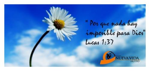 Por que nada hay imposible para dios Nada hay imposible para Dios