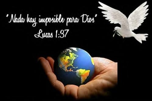 frase dios Nada hay imposible para Dios