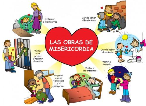 obras misericordia e1377127978820 Imágenes para evangelizar a niños