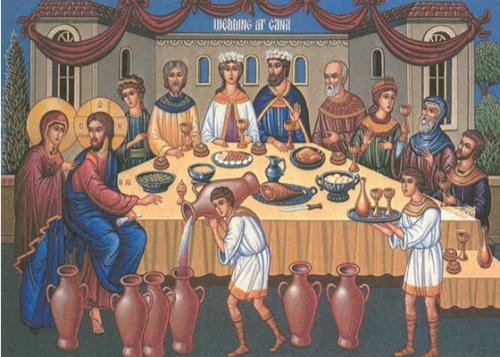 jesus convierte el agua en vino