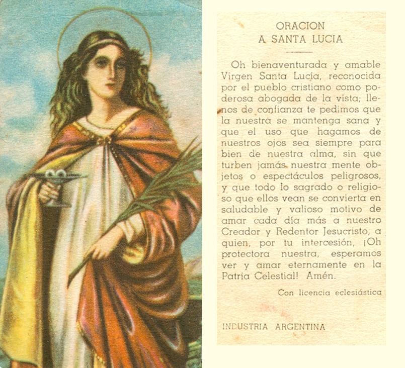 Santa Lucia Oraciones a Santa Lucía