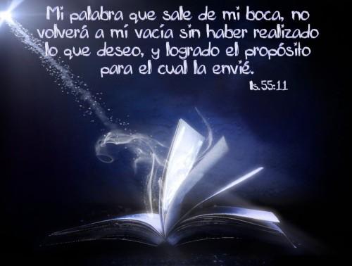 palabra Dios Isaías 55.11