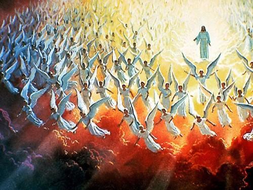 Jesus con Angeles