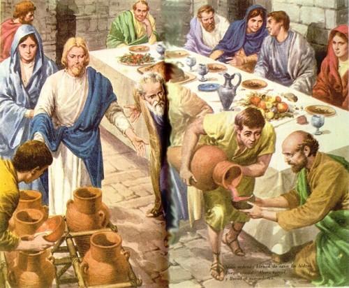 Imágenes de Jesús en la boda de Cana