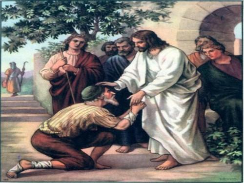 Jesus sana a un leproso