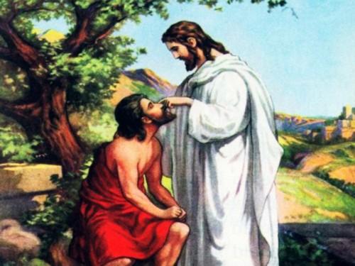 jesus sana al leproso