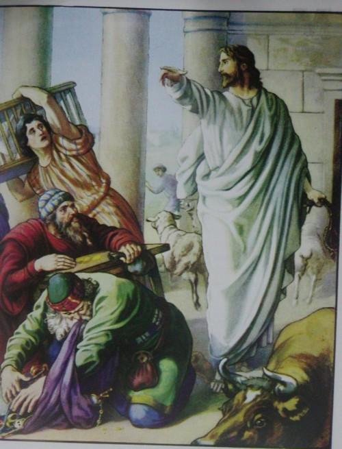jesus y los mercaderes del templo