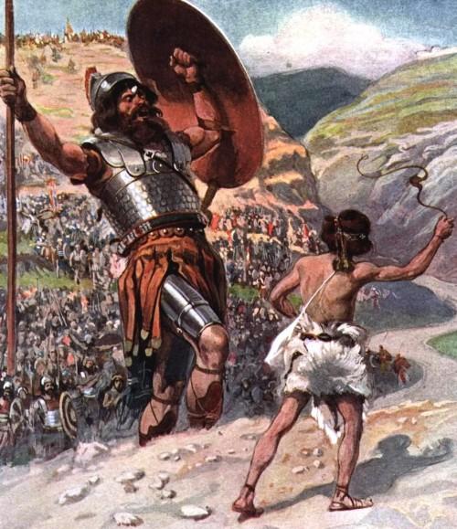 David matando a Goliath