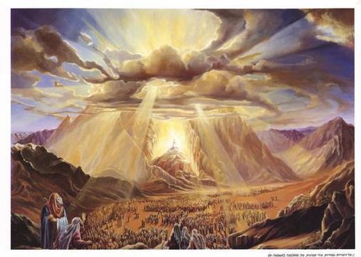Moises en el monte sinai