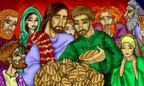 multiplicacion de los panes y los peces
