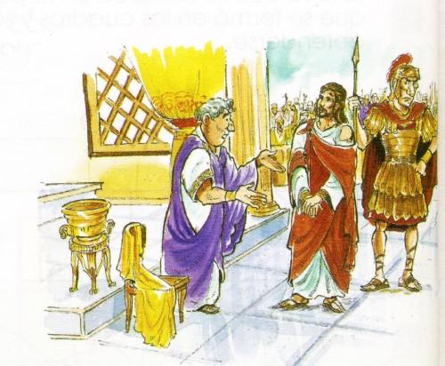 Imagenes de Jesus ante pilatos