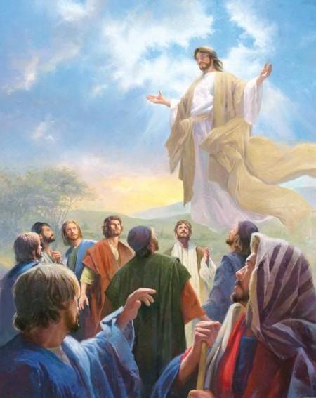 Jesus ascendiendo al cielo