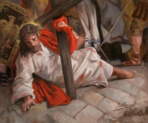Septima Estacion Jesus cae por segunda vez