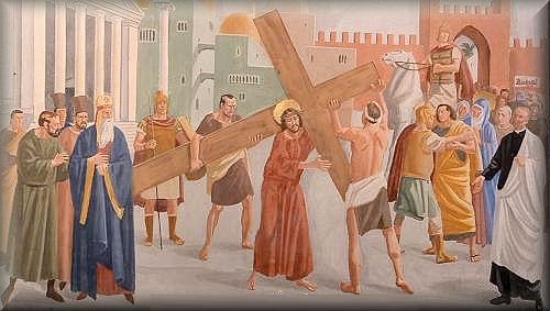 Segunda Estacion Jesus carga la Cruz
