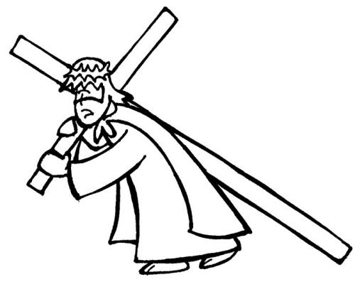 Segunda Estacion Jesús carga la Cruz