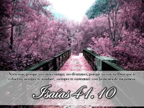 Isaías 41:10 No temas porque yo estoy contigo