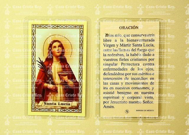 Oraciones a Santa Lucía